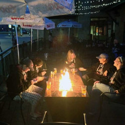Custom Fire Pit Burners - Parallax Fire Table at Benders Tavern in Denver, CO