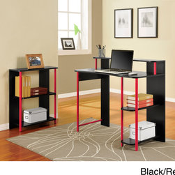Altra - Altra Computer Desk and Bookcase Set - Create a complete study area or office space with this desk with bookcase from Altra. There are multiple shelves to store books and other study items as well as a larger area for a laptop or desktop computer, and a riser above the desk for pictures.