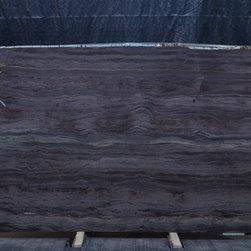 Royal Stone & Tile Slab Yard in Los Angeles - Sequioa Brown Opera extoic granite slab from Brazil at Royal Stone & Tile