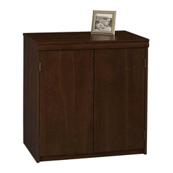 Ameriwood - Ameriwood 2-Door Storage Cabinet in Resort Cherry - Ameriwood - Storage Cabinets - 9702207P - This Storage cabinet with two large doors that conceals spacious storage