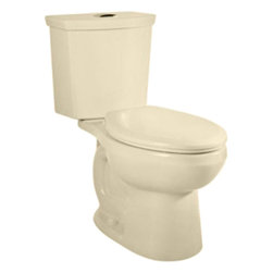 "American Standard - American Standard 2887.216.021 H2Option Dual Flush Elongated Toilet, Bone - American Standard 2887.216.021 H2Option Siphonic Dual Flush Elongated Toilet,  Bone. This elongated front toilet features a vitreous china construction, a high-efficiency low-consumption 1.6 GPF flow rate, an elongated siphon action bowl with direct-fed jet, a 15"" rim height, an EverClean surface that inhibits the growth of bacteria, mold, and mildew, a fully-glazed 2"" trapway, a 12"" Rough-in, a chrome plated top mounted push-button actuator, a sanitary dam on bowl, 2 color-matched bolt caps, and a design that meets EPA WaterSense critera."