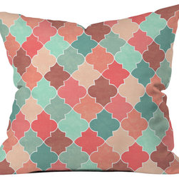 DENY Designs - Jacqueline Maldonado Morocco Pastel Outdoor Throw Pillow - Do you hear that noise? it's your outdoor area begging for a facelift and what better way to turn up the chic than with our outdoor throw pillow collection? Made from water and mildew proof woven polyester, our indoor/outdoor throw pillow is the perfect way to add some vibrance and character to your boring outdoor furniture while giving the rain a run for its money. Custom printed in the USA for every order.