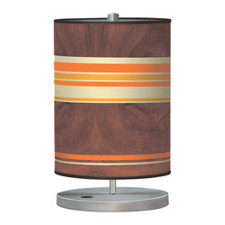Horizontal Stripey 2 Cylinder Table Lamp