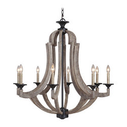 Jeremiah Lighting - Jeremiah Lighting 35128 Winton 8 Light Mid-Sized Chandelier - Lamping Technology: