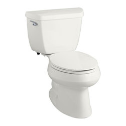 KOHLER - KOHLER K-3575-0 Wellworth 1.28 gpf Elongated Toilet with Class Five Flushing Tec - KOHLER K-3575-0 Wellworth 1.28 gpf Elongated Toilet with Class Five Flushing Technology and Left-Hand Trip Lever in White