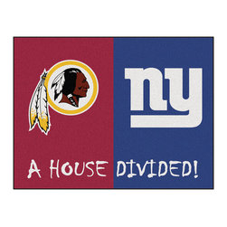 Fanmats - NFL Redskins-Giants House Divided Accent Rug - Features:
