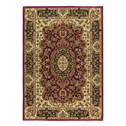 """Orian - Orian American Heirloom Walbridge (Claret) 3'11"""" x 5'5"""" Rug - American Heirloom Collection, Orian Rugs' flagship collection is inspired by classic, hand-woven oriental rugs that combine understated elegance with classic style. The 1.5 million point design construction is densely woven with Orian's finest-denier yarns creating unparalleled visual dimension and pin point design clarity."""