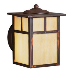 "Kichler - Kichler 9649CV Alameda Collection 1 Light 7"" Outdoor Wall Light - Kichler 9649 Alameda Wall Sconce"