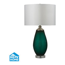 Dimond Lighting - Dimond Lighting HGTV288 Hgtv Home 1 Light Table Lamps in Jade Green With Acrylic -