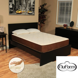 NuForm - NuForm 9-inch King-size Firm Memory Foam Mattress with Two Bonus Memory Foam Pil - This 9-inch thick NuForm luxury Memory Foam mattress is designed to provide a firm feel for a more comfortable sleep experience. Memory Foam conforms to the body and help rejuvenate tired muscles. Comes with two shredded Memory Foam pillows.