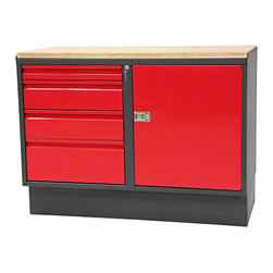 """48"""" WorkBench with Cabinet  - RH - Work Bench with Cabinet"""