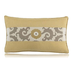 Elaine Smith - sedona wheat lumbar pillow (12x20) - Performance pillows from renowned textile designer Elaine Smith® feature unique fabrics that are both soft and stylish, rich in color, lavish in detail, and impervious to the elements.
