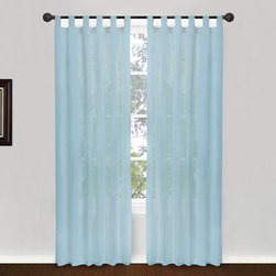 Vintage House by Park B. Smith - Slate Tab Top Window Panel - - Vintage house all natural 100% cotton buttery soft voile light and airy 50 x 84-inch tab top treatment. Dry clean only  - made in india  - items included in the set: one window panel Vintage House by Park B. Smith - COHO4G-SLT