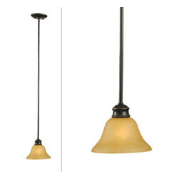 DHI-Corp - Bristol 1-Light Mini Pendant, Oil Rubbed Bronze - The Design House 509026 Bristol 1-Light Mini Pendant is made of formed steel, tea speckled glass and finished in oil rubbed bronze. This pendant's linear construction and contemporary appeal extends long from the ceiling with a soft downward facing lamp gently diffusing light. This 1-light pendant is rated for 120-volts and uses (1) 60-watt medium base incandescent bulb. Measuring 43.7-inches (H) by 7.5-inches (W), this 4.8-pound fixture can be mounted on its own or with several for a dramatic look. Clean lines and sleek details add a modern accent above a kitchen island, bar or table. This product is UL and cUL listed. The Bristol collection features a beautiful matching vanity light, chandelier, ceiling mount and wall sconce. The Design House 509026 Bristol 1-Light Mini Pendant comes with a 10-year limited warranty that protects against defects in materials and workmanship. Design House offers products in multiple home decor Categories including lighting, ceiling fans, hardware and plumbing products. With years of hands-on experience, Design House understands every aspect of the home decor industry, and devotes itself to providing quality products across the home decor spectrum. Providing value to their customers, Design House uses industry leading merchandising solutions and innovative programs. Design House is committed to providing high quality products for your home improvement projects.