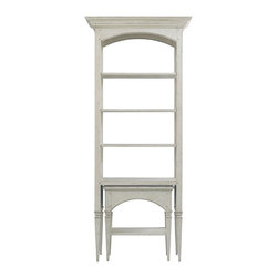 Hickory White - Hickory White Axel Wine Tasting Etagere 773-51 - Three adjustable shelves and one fixed shelf with nesting table below. Maple solids with maple veneers, medium distressing.