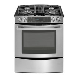 "Jenn-Air 30"" Slide-in Gas Downdraft Range, Stainless/blk 