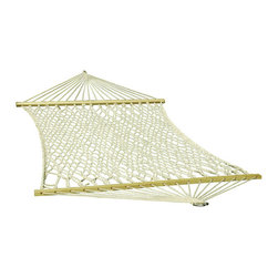Algoma - Algoma 11-foot Cotton Rope Hammock - This 100-percent cotton hammock is a perfect way to lounge around on a restful afternoon. This attractive single-person hammock is strong and comfortable so you'll be able to rest easy for years to come.