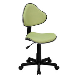 Flash Furniture - Avocado Fabric Ergonomic Task Chair - The ergonomics of selecting a chair is just as important as its design. Let this chair speak for itself and you'll be amazed at how comfortable you feel. Visually appealing as well, the contoured seat and back is surrounded by a strip of chrome metal, and its avocado green fabric provides a refreshing color choice.