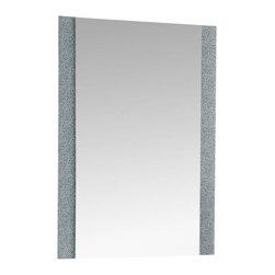 Decor Wonderland Mirrors - Decor Wonderland Dune Frameless Mirror - The Dune Frameless Mirror is a beautifully modern mirror featuring two sides of etched design. This rectangular frameless bathroom mirror is a contemporary frameless mirror perfect for modern decor.