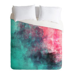 DENY Designs - Allyson Johnson Cotton Candy Duvet Cover - Turn your basic, boring down comforter into the super stylish focal point of your bedroom. Our Luxe Duvet is made from a heavy-weight luxurious woven polyester with a 50% cotton/50% polyester cream bottom. It also includes a hidden zipper with interior corner ties to secure your comforter. it's comfy, fade-resistant, and custom printed for each and every customer.
