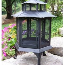 "Oakland Living 40"" Pagoda Fire Pit - Weather, crack, chip, and fade resistant, the Oakland Living 40"" Pagoda Fire Pit will easily decorate and warm your outdoor backyard or patio area for several years. -Mantels Direct"