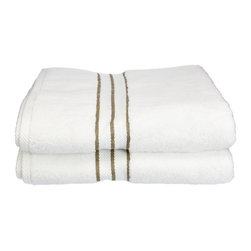 """900 GSM Hotel Collection Bath Towel Set, Latte - These ultra-soft towels create a spa experience. Treat yourself to this lush, beautiful towel set for an easy way to revitalize your bath decor. This towel can also be found in various other colors. Set includes two bath towels 30""""x55"""" each."""