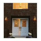 Smooth Skin Fiberglass Door Series - 3/0 x 6/8 Smooth Skin: Six Panel Utility Half Lite w/ Metropolis Doorlites---