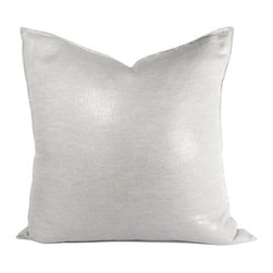 Chanel Metallic Pillow - This pillow brings a touch of glamour to any room. 100% linen. Invisible zipper with feather down insert.