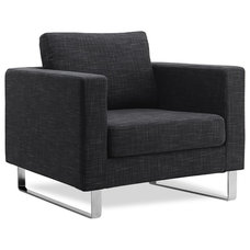 modern armchairs Portobello Dark Grey Arm Chair (Sliders)