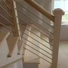 Modern  Residential Interior Straight Stairs
