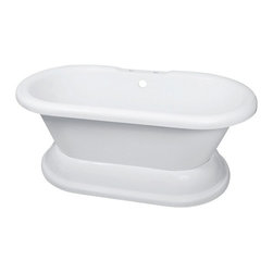 "Elizabethan Classics ECUSADP Dual on Plinth Acrylic Bathtub - APPLY COUPON CODE ""EDHOUZ50"" AT CHECKOUT. JUST OUR WAY OF SAYING THANKS."