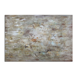 Uttermost - Middle Abstract Art - Frameless, Hand Painted Artwork On Canvas That Has Been Stretched And Attached To Wooden Stretching Bars. Due To The Handcrafted Nature Of This Artwork, Each Piece May Have Subtle Differences.