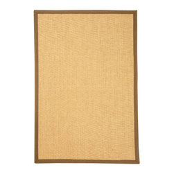 Natural Area Rugs - NaturalAreaRugs Sumatra Sisal Rug, Handcrafted, 100% Sisal, 5 Ft. X  8 Ft. - Free & Same Day Shipping within Continental USA. International Shipping Available (Contact us for a quote). All natural sisal rug handcrafted by Artisan rug maker. Naturally durable and anti-static, this earth friendly rug is great for high traffic areas. Enjoy this sisal rug with cotton border and non-slip dotted felt backing along with its stylish and contemporary look. Variations are part of the natural beauty of natural fiber. We recommend a rug pad as it will protect not only your rug but your hardwood floor as well.