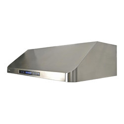 Cavaliere - Cavaliere-Euro AP238-PS15-36 Cabinet Mount Range Hood - 260W Under Cabinet Range Hood with 4 Speeds, Timer Function, LCD Keypad,  Baffle Filters, and Halogen Lights