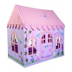 Children's Fairy Play Cottage - This playhouse is perfect for parents who want to have a great place for their little girl to play but keep the possibility open of putting it away for adult time.