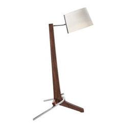 Silva Oiled Walnut White 21 1/2-Inch-H Cerno Table Lamp -