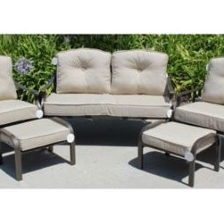 Brentwood Originals - Solarium Outdoor 9-Piece Seat Cushion Set in Linen - This Seat Cushion Set is a perfect replacement set for the 6-Piece Deep Seating Set (sold separately) or other Outdoor Furniture Sets.