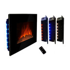 "AKDY - AKDY AG-Z510ELB Wall Mount Electric Fireplace, Log, 36"" - GV's high performance wall mount electric stoves offer the instant ambiance of a traditional fireplace experience. Each of our wall mount electric fireplaces provide quiet, instant heat and eye-catching design. You will find electric stoves with both classic and traditional designs that will complement many decors. Our electric fireplaces are ideal for condominiums, lofts, apartments or single homes. Simply plug in and enjoy the warmth and realistic flame of your new fireplace anywhere in your home. The 3-D flame technology provides you with a realistic flame that can be enjoyed year round with or without heat. Our electric fireplace stoves plug into any standard outlet and move easily from one room to another."
