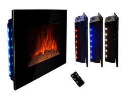"""AKDY - AKDY AG-Z510ELB Wall Mount Electric Fireplace, Log, 36"""" - GV's high performance wall mount electric stoves offer the instant ambiance of a traditional fireplace experience. Each of our wall mount electric fireplaces provide quiet, instant heat and eye-catching design. You will find electric stoves with both classic and traditional designs that will complement many decors. Our electric fireplaces are ideal for condominiums, lofts, apartments or single homes. Simply plug in and enjoy the warmth and realistic flame of your new fireplace anywhere in your home. The 3-D flame technology provides you with a realistic flame that can be enjoyed year round with or without heat. Our electric fireplace stoves plug into any standard outlet and move easily from one room to another."""