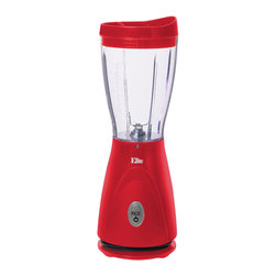 Maxi Matic - Elite Cuisine Red 14-ounce Personal Blender - Prepare healthy and refreshing drinks with the Elite Cuisine Personal Drink Blender. This blender easily prepares delicious fruit smoothies or a nutritious protein shake for a post-workout boost.
