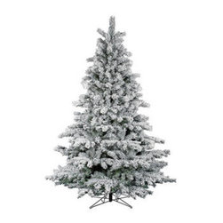 12 ft. x 78 in. Flocked Aspen Frosted Artifical Chrstimas Tree - 12 ft. x 78 in. Artificial Christmas Tree