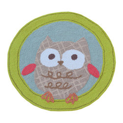 The Rug Market - Owl Shaped area rug -
