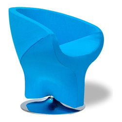 Turquoise Pod Diamond Chair - With a unique shape and a brilliant turquoise hue, this robust chair will add a serious pop of personality to your living room. It's comfy too, with a round, deep seat.