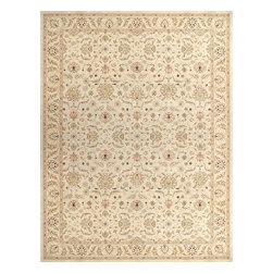 Loloi Rugs - Loloi Rugs STANST-08BEBE2679 Stanley Beige-Beige Traditional Border Rug - The magnificent Stanley Collection features modern interpretations of the most sophisticated hand knotted designs. Recreated in Egypt with power loomed technology these gorgeous polypropylene area rugs offer an affordable alternative.