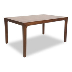 Cole Cocoa Wood Dining Table For 6