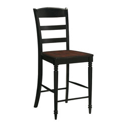 Home Styles - Home Styles Grand Torino Bar Stool - Home Styles - Bar Stools - 501288 - The Grand Torino Ladder Back Bar Stool is constructed of hardwood solids that are warmed with a blended rustic cherry and black finish.
