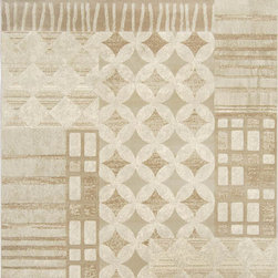 """Home Dynamix - Home Dynamix Fresco, Light Gray, 7'10""""x10'4"""" Rug - With both contemporary and transitional area rug styles, the Home Dynamix Fresco Area Rug collection offers elegant area rug designs that are sure to compliment your decor. Featuring an earth-tone palette comprised of blues, beiges, and browns these exceptional area rugs are the ideal accent piece for any room. Made in Turkey, their 100-percent Heat Set Polypropylene, machine-made construction means each area rug is carefully crafted to offer you years of use and enjoyment."""