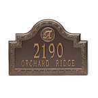 "Frontgate - Stratford Wall-mount Address Plaque - Standard: 16""W x 11""H, 6 lbs. Estate: 22""W x 15""H, 10 lbs."