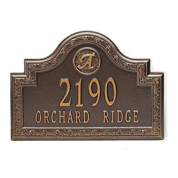 "Frontgate - Stratford Wall-mount Address Plaque - Frontgate - Standard: 16""W x 11""H, 6 lbs. Estate: 22""W x 15""H, 10 lbs."