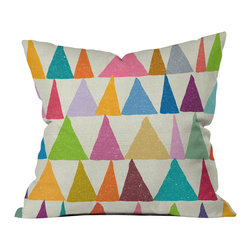 DENY Designs - Nick Nelson Analogous Shapes In Bloom Throw Pillow, 20x20x6 - Wanna transform a serious room into a fun, inviting space? Looking to complete a room full of solids with a unique print? Need to add a pop of color to your dull, lackluster space? Accomplish all of the above with one simple, yet powerful home accessory we like to call the DENY throw pillow collection!